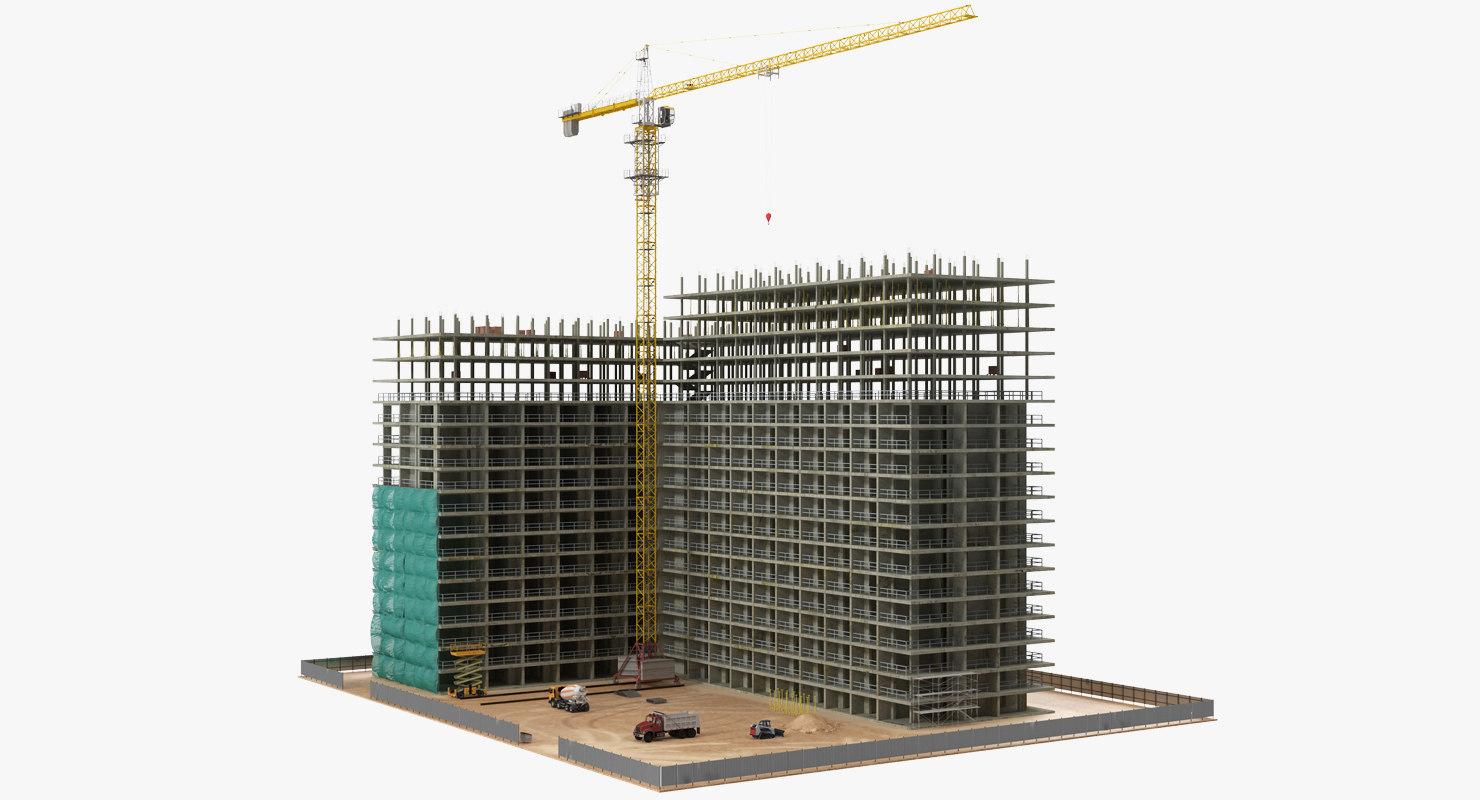 3D building construction equipment