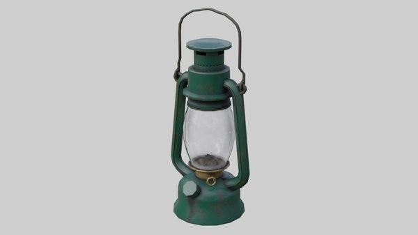 3D oil lamp 1a model