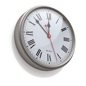 3D arabic clock numeral model