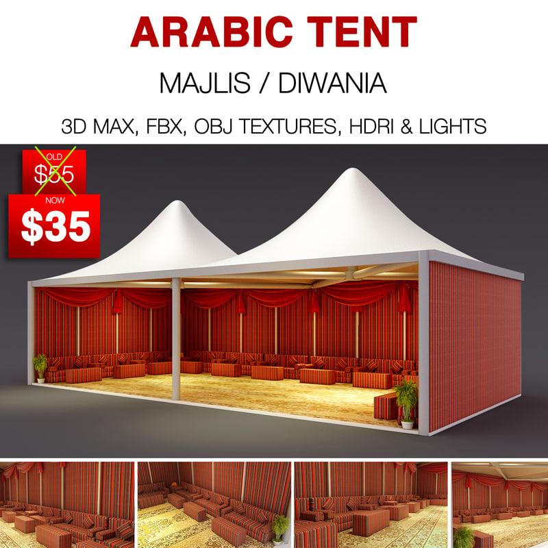arabic tent 3D model