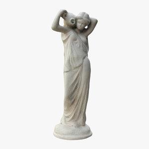 3D fountain statue