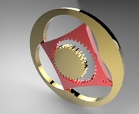 3D model 4 chamber wankel