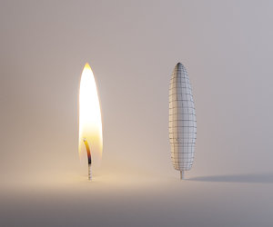 3D candle flame
