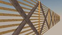 fence asset door 3D model