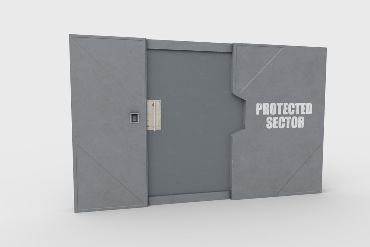 3D sturdy steel door model
