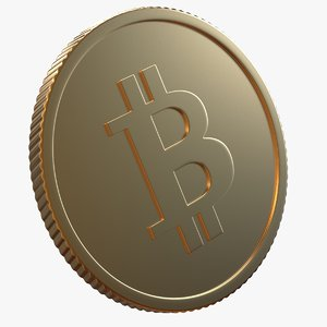3D model bitcoin piece symbol