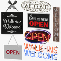 welcome signs 3D