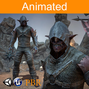 3D character orc kanit model