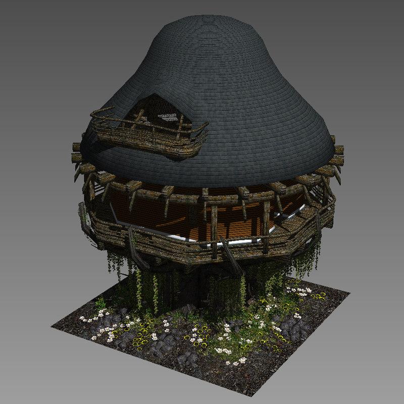 hut tree 3D model
