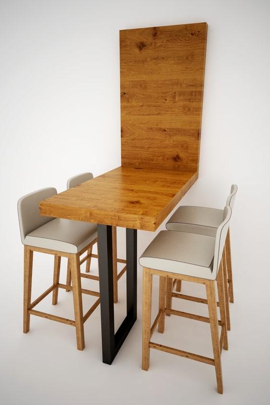 bar table 3D model