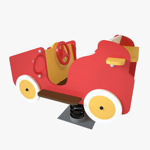 3D playground spring car