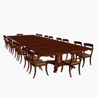 conference tables chairs 3D model