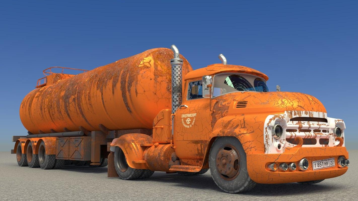 tank truck 3D model