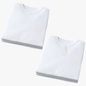 male v-neck t-shirts folded 3D model