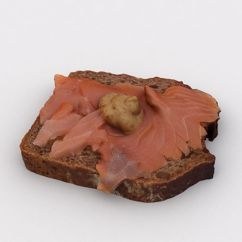 3D model scan salmon bread