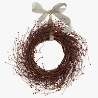3D christmas wreath 03