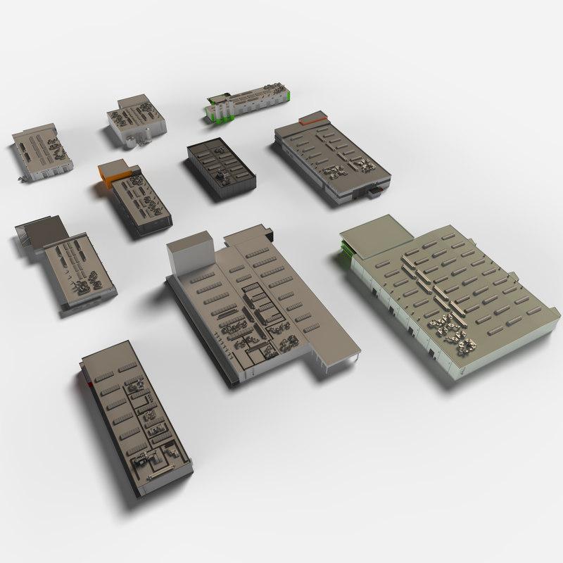 building industrial set model