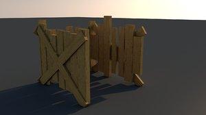 3D model broken shed