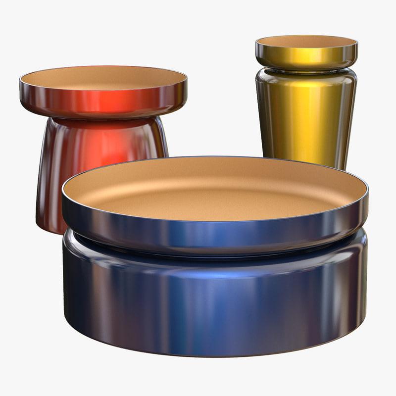 3D coffe table flen model