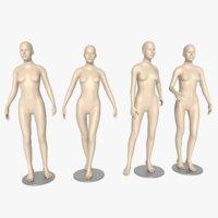 3D mannequin female blender