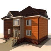 3D house frame cottage