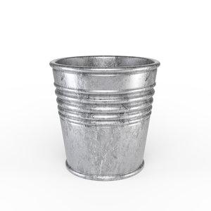 3D metal plant pot