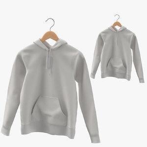 female hoodies hanging hanger 3D