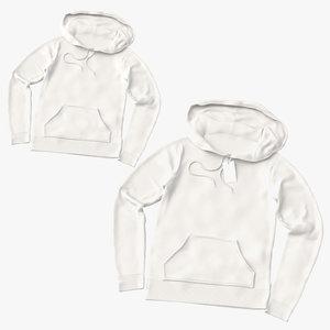 female hoodies laid loosely 3D model