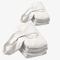 female hoodies folded stacked 3D model