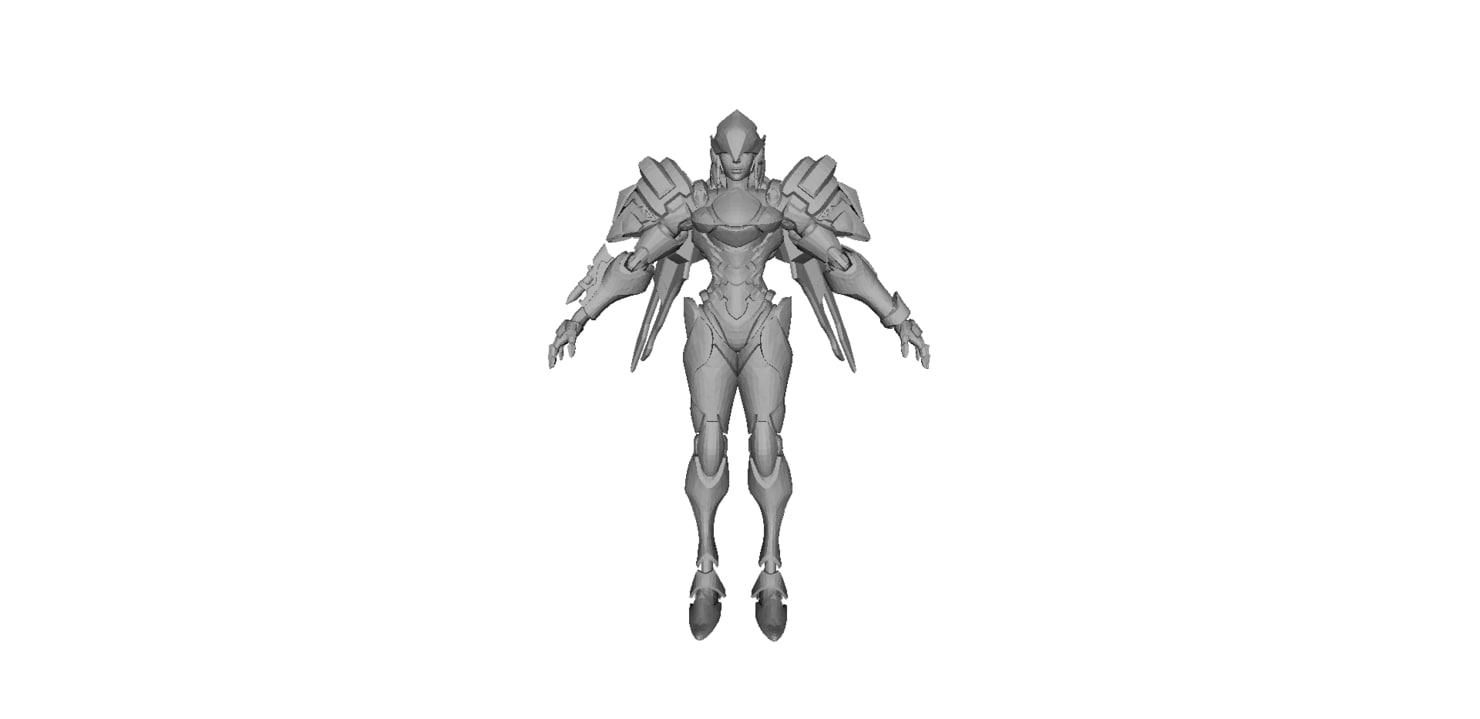angel girl 3D model