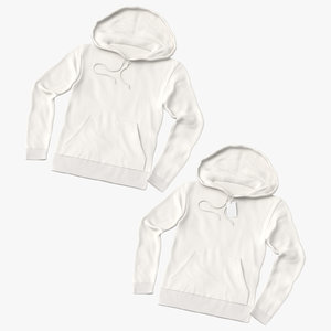 male hoodies loosely 3D model