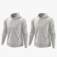 male hoodies worn model