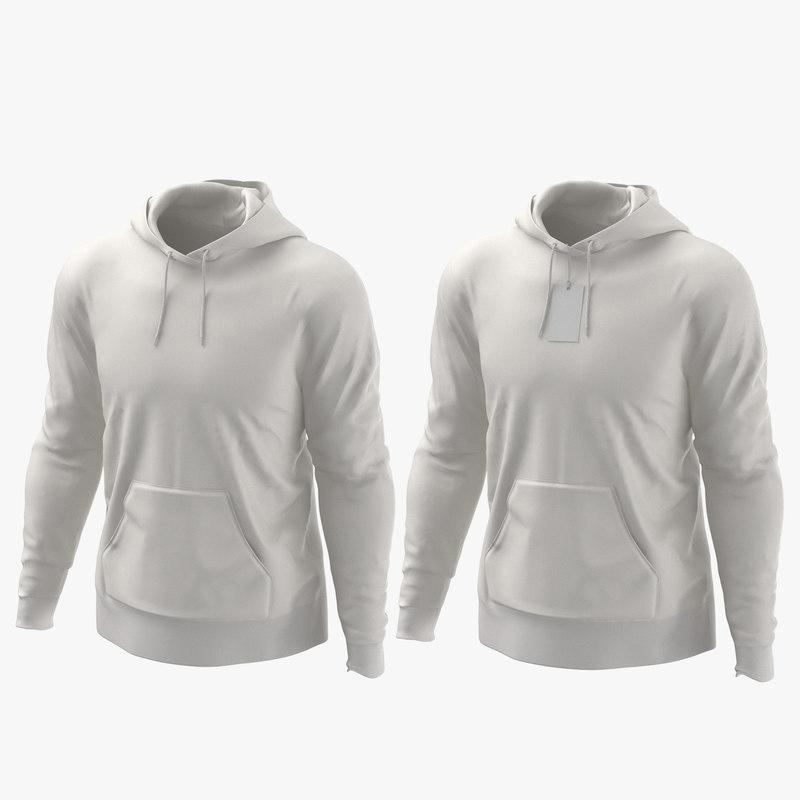 male hoodies worn model