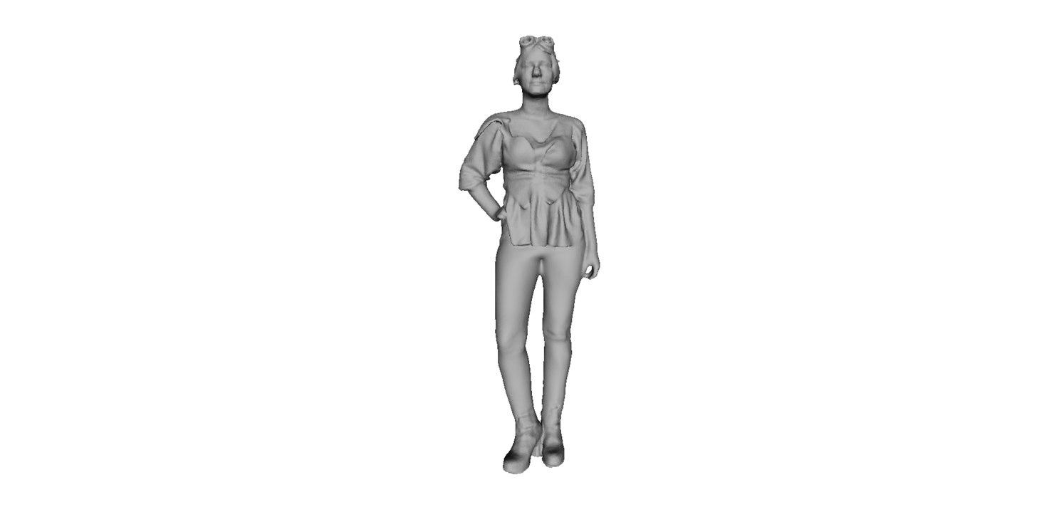 pilot girl 3D model