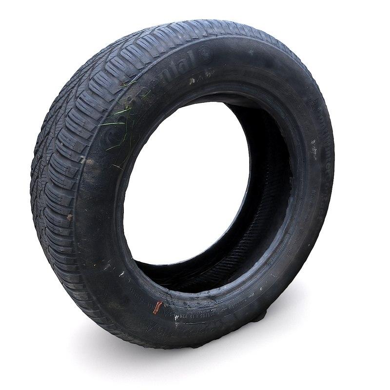 3D old car tire coat