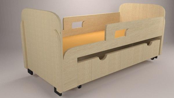 3D model baby drawer