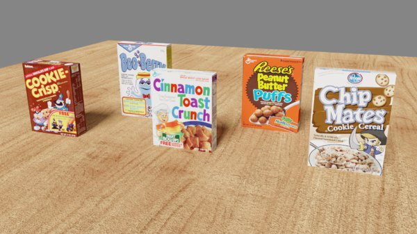 3D cereal boxes