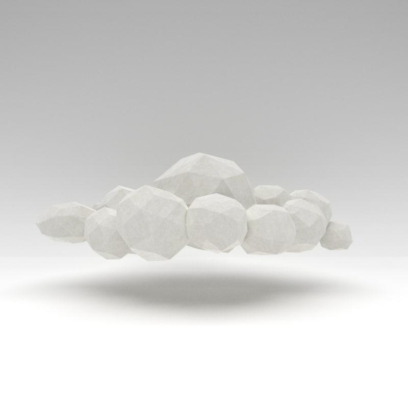 3D white cloud model
