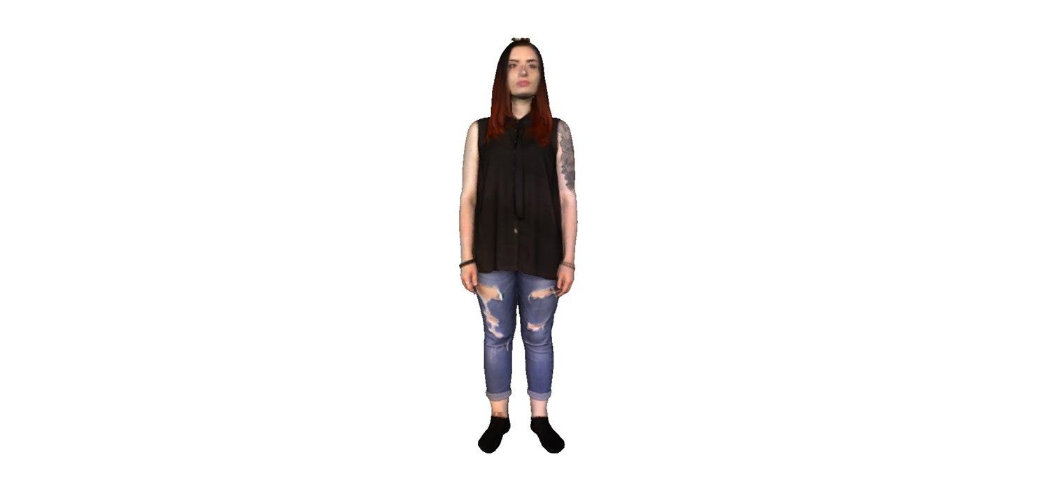 3D model girl