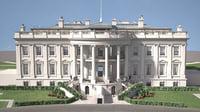 white house usa 3D