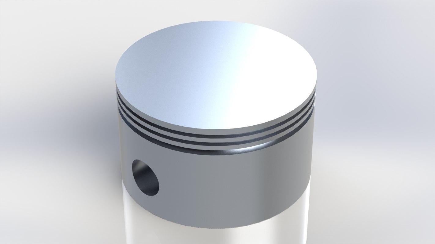 piston cylinder engine - 3D model