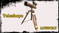 3D antique telescope model