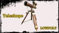 3D antique telescope model