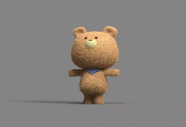 3D model teddy beer