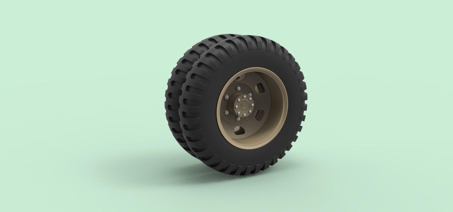 3D wheel truck old