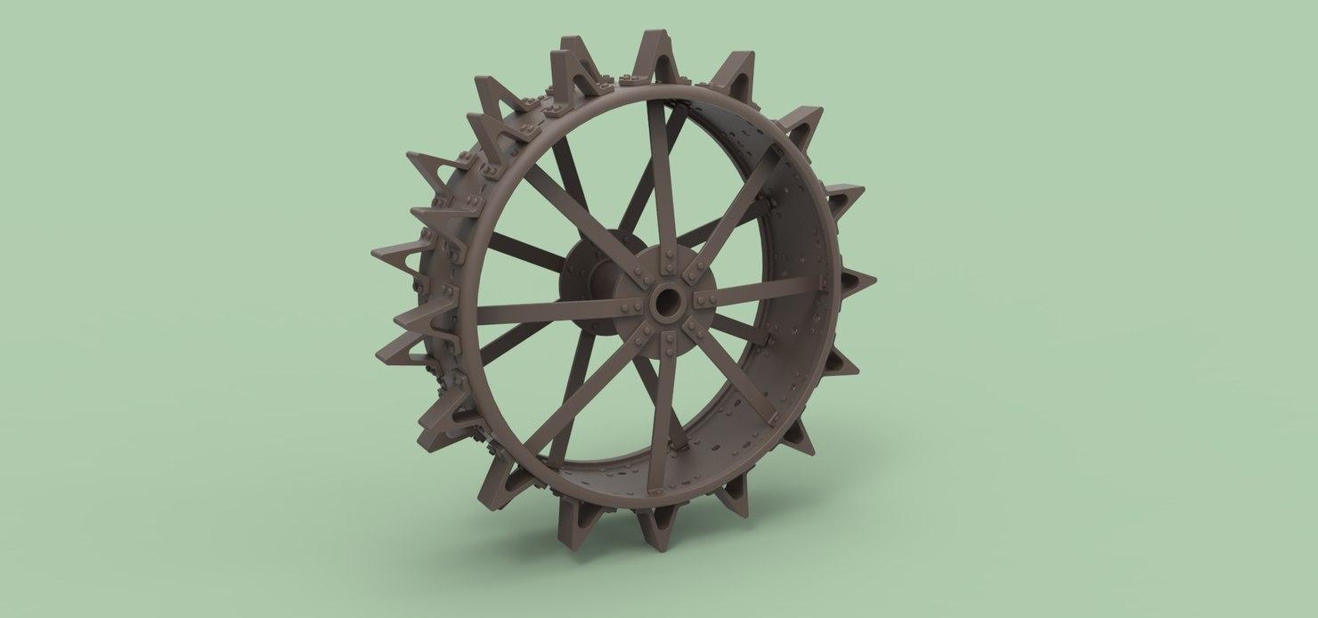 3D tractor wheel rear