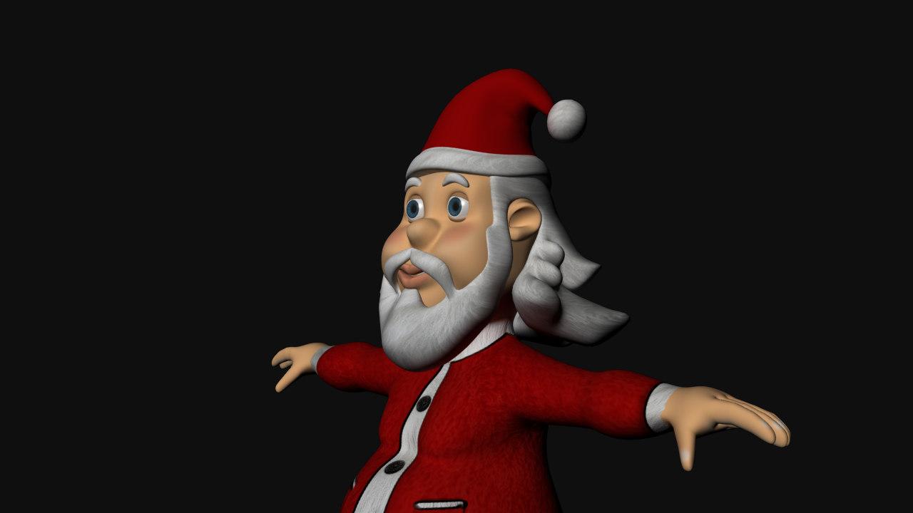 3D model santa