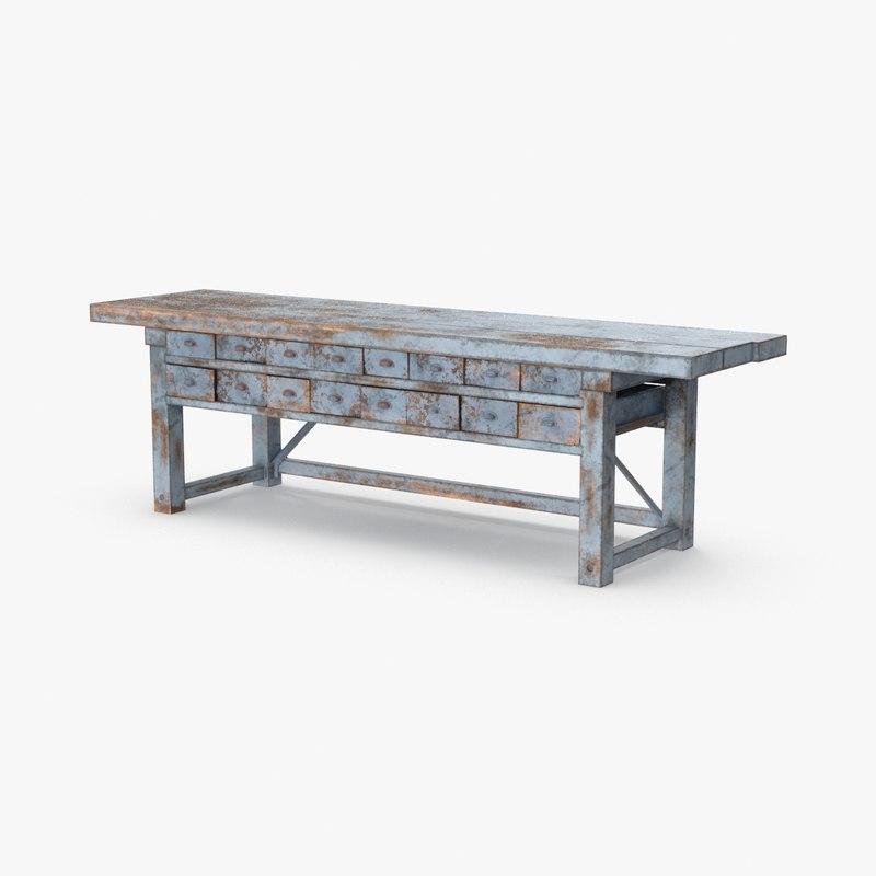 3D blacksmith table