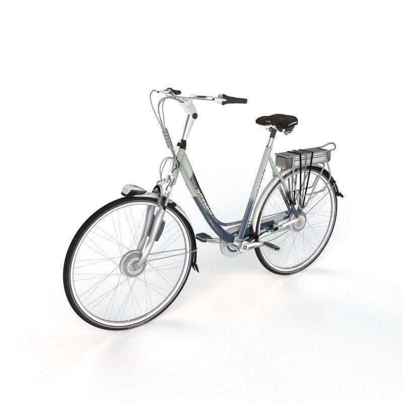 3D dutch bicycle gazelle model
