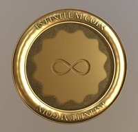 infinity coin 3D model